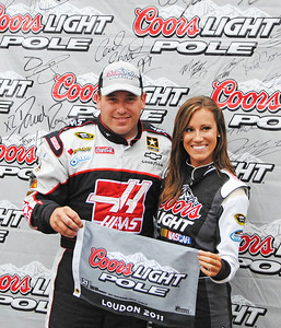 Ryan Newman and Miss Coors Light pole winner