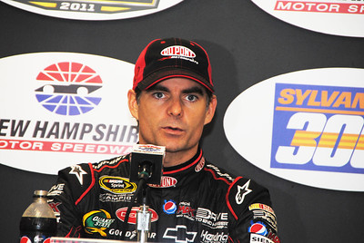 Jeff Gordon in media center