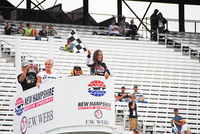 miss coors light waves the flag at qualifying