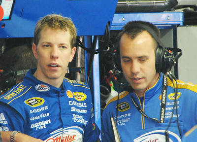 Brad Keselowski in Garage