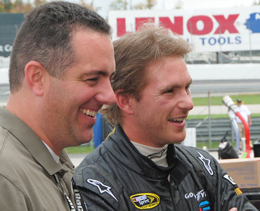 Scott Speed shares a laugh