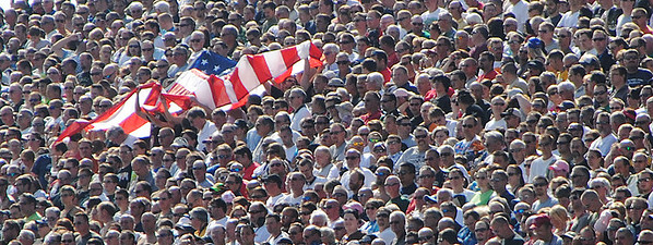 American Flag Pre Race