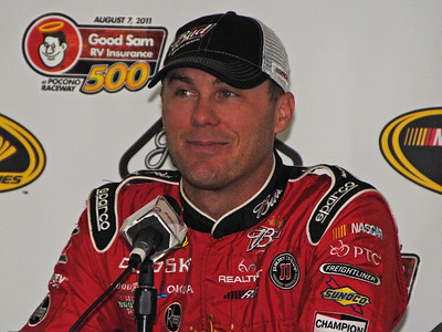 Kevin Harvick in Media Center at Pocono