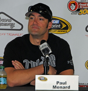 Paul Menard in Pocono Media Center