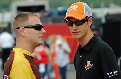 Joey talking with a Friend in Pocono Garage