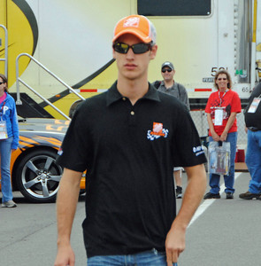 Joey Logano in Pocono Garage