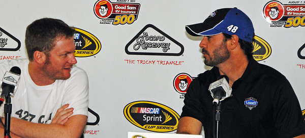 DEF and Jimmy Johnson in the media Center