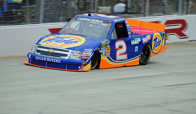 kevin harvick truck on the track
