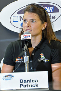 Danica Patrick in the media center