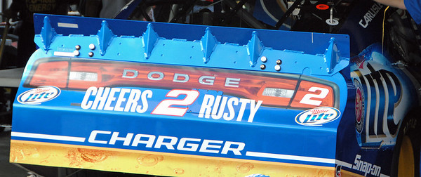 Rusty Wallace tribute on 2 car