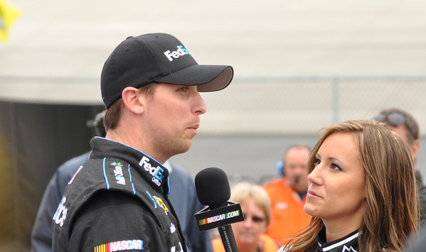 Denny Being interviewed by miss Coors light for the pole