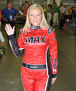 Christina Davidson - Miss Z-Max in driver meeting