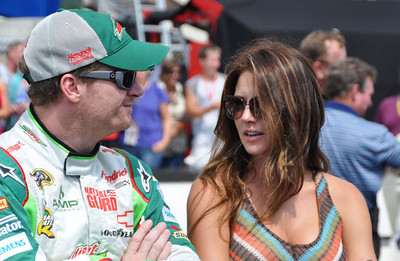 Dale Earnhardt Jr chats with Amy Reimann
