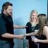 Randy Hauser, Tracy Feldman, Nancy Feldman (shaking hands)