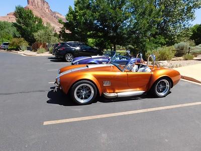 Shelby Cobra replicas at Gateway museum.