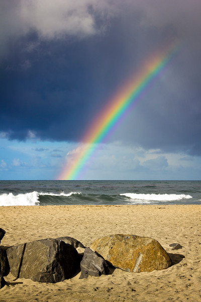 Rainbow at sunrise, Carlsbad