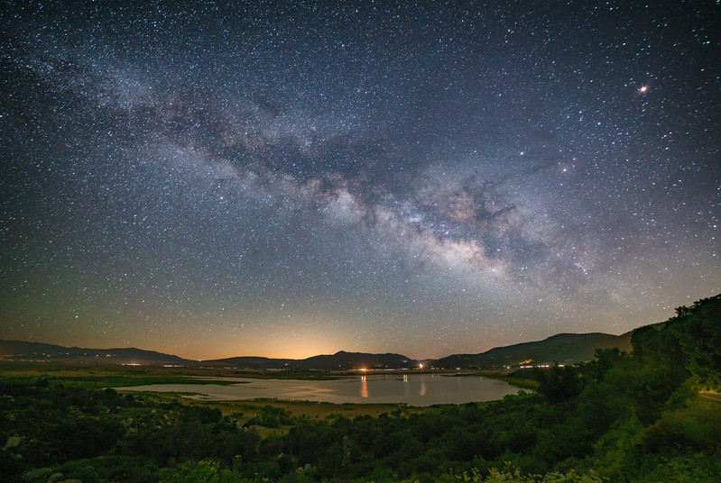 Milky Way over Lake Henshaw