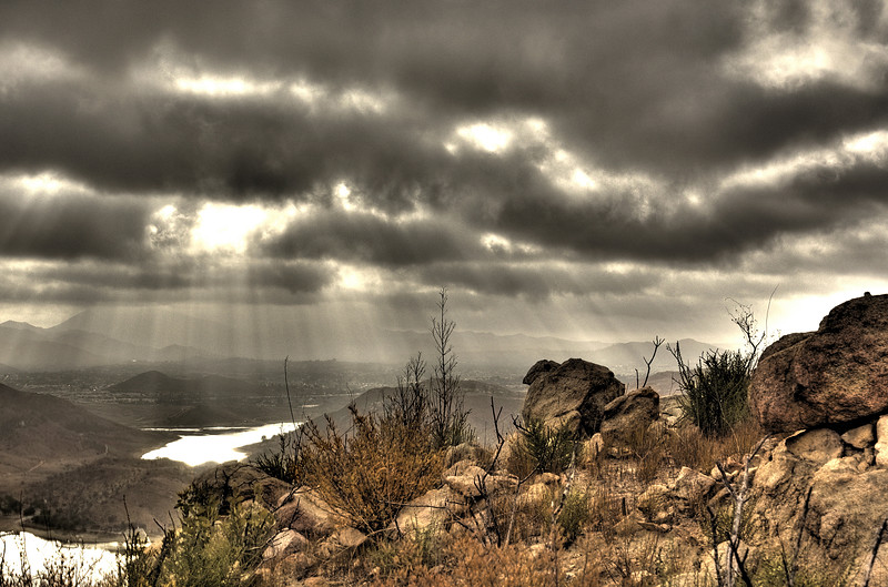 Elfin Forest Preserve and crepuscular rays