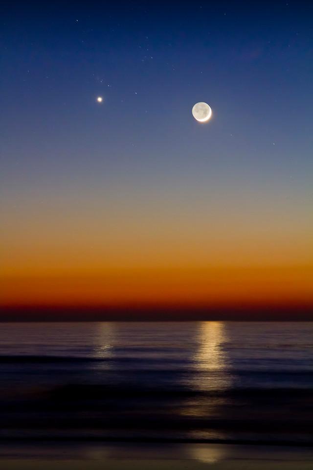 Moon and Venus, Carlsbad