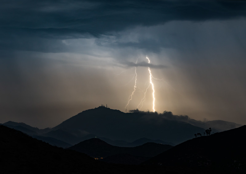 Lightning over Mt. Woodson