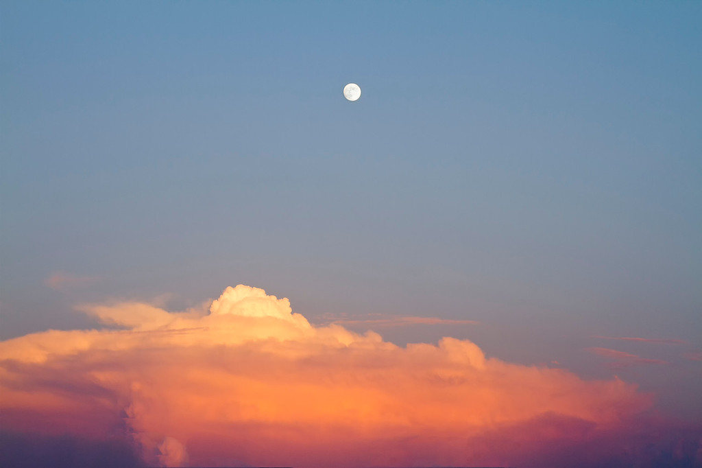 Moon over thunderhead