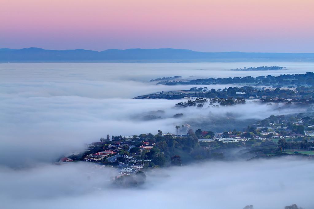 Fog bank over Torrey Pines