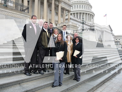 Athletic trainers and AT students from Pennsylvania gathered before going their separate ways to meet with legislators during 2010 Capitol Hill Day. Photo by Jordan Bostic/NATA.