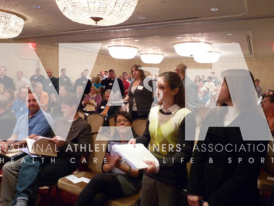"First time attendees of Capitol Hill Day stand to be recognized during the ""How to Lobby"" session. Photo by Jordan Bostic/NATA"