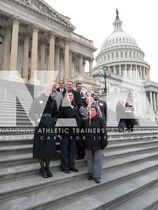 Athletic trainers from California gathered before going their separate ways to meet with legislators during 2010 Capitol Hill Day. Photo by Jordan Bostic/NATA
