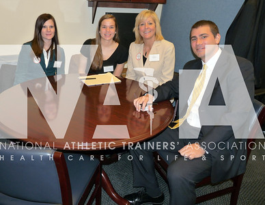 Micki Cuppett, EdD, ATC, was shadowed by two athletic training students as she visited with the legislative aid for Florida Congresswoman Ginny Brown-Waite. Photo by Jordan Bostic/NATA