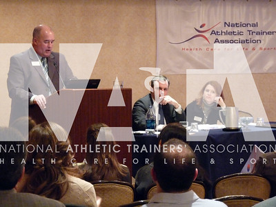 "Jim Thornton, MA, ATC, PES, speaks to the attendees during the ""How to Lobby"" session for 2010 Capitol Hill Day. Photo by Jordan Bostic/NATA"