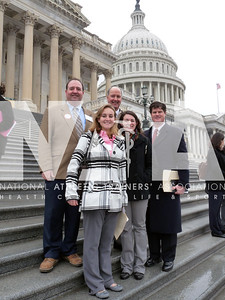 Athletic trainers and AT students from Arkansas gather during Capitol Hill Day. Photo by Jordan Bostic/NATA