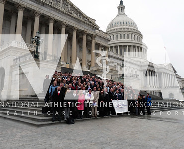 Nearly 200 athletic trainers and AT students from across the country gathered in Washington, D.C. to participate in the 2010 NATA Capitol Hill Day on Feb. 23, 2010. Photo by Jordan Bostic/NATA