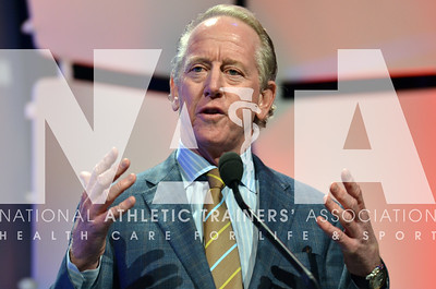 Archie Manning speaks to a nearly full house during the J&J keynote address Tuesday afternoon.  photo by Renee Fernandes