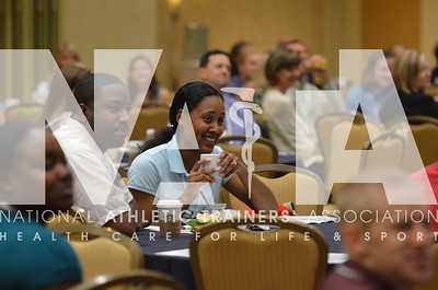 Attendees to the scholarship breakfast are entertained during the speaker's presentation. photo by Renée Fernandes