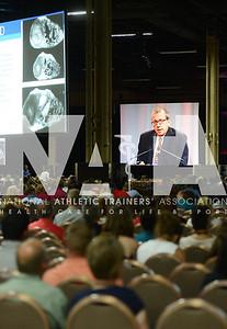 credit: Renée Fernandes Mark Link, MD, addresses the crowd during the J&J Feature Presentation.