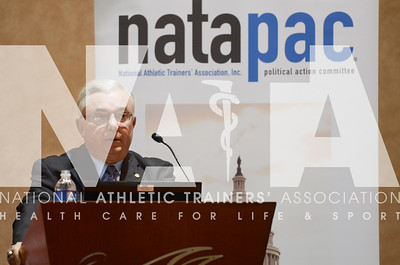 credit: Renée Fernandes Sandy Miller gives his speech to a sell out crowd during the NATAPAC breakfast Tuesday morning.