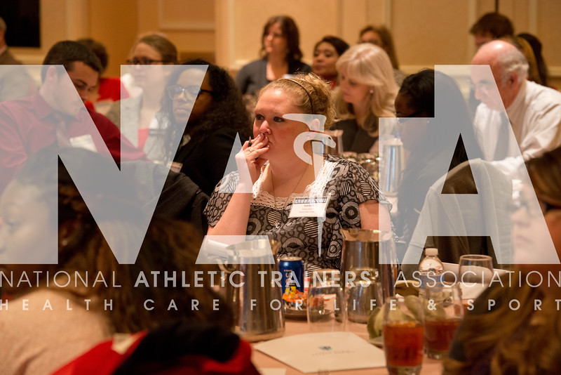 Renee Fernandes/for the NATA<br /> Tiffany Kizziah, of Foster High School, listens closely during a presentation at the Youth Sports Safety Summit in Irving, TX.