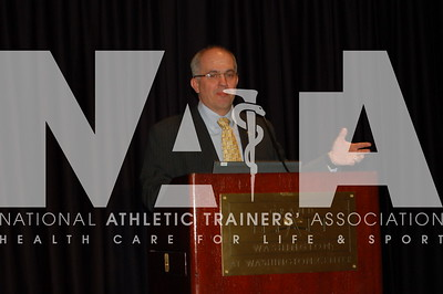 Chad Starkey, PhD, ATC, FNATA, speaks during the keynote.  Photo by Valerie Hunt/NATA