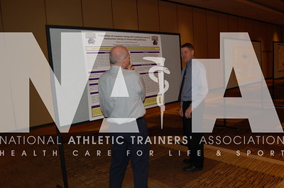 Attendees review the poster presentations. Photo by Valerie Hunt/NATA