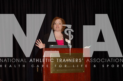 Jolene Henning, EdD, ATC, LAT, addresses the audience. Photo by Valerie Hunt/NATA
