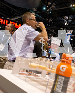 Renee Fernandes/NATA Thomas Holton, MS, ATC tries some Gatorade samples during the opening day of the Expo