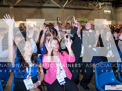 Renee Fernandes/NATA The crowd participates in the wave as they cheer on their teams during the annual quiz bowl.