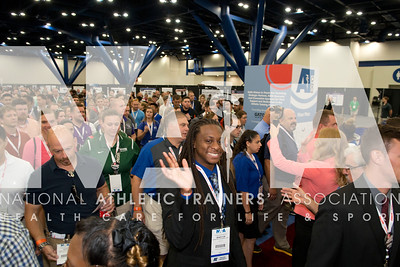 Renee Fernandes/NATA Winston Lightbody, ATC, and hundreds of other ATC's enter the AT Expo on the first day.