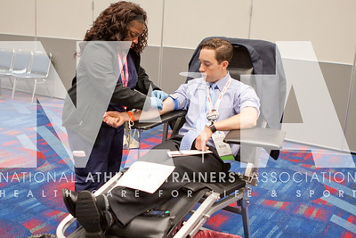 J. Kat Woronowicz Photos/Attendees volunteer to give blood on Tuesday, June 27th, during the NATA 2017.