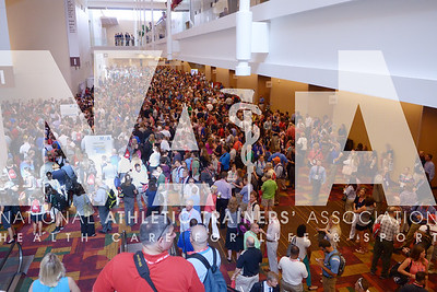 Renee Fernandes/NATA Thousands wait for the opening day of the trade show at the annual meeting.