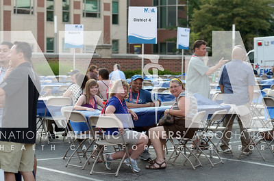 Renee Fernandes/NATA People enjoy conversation and catching up with friends during the welcome reception.