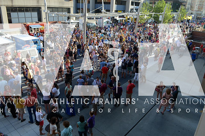 Renee Fernandes/NATA Thousands enjoyed the evening at the welcome reception block party.