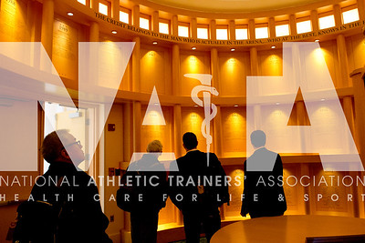 Renee Fernandes/NATA Attendees enjoyed a reception inide the Hall of Champions at the NCAA headquarters.