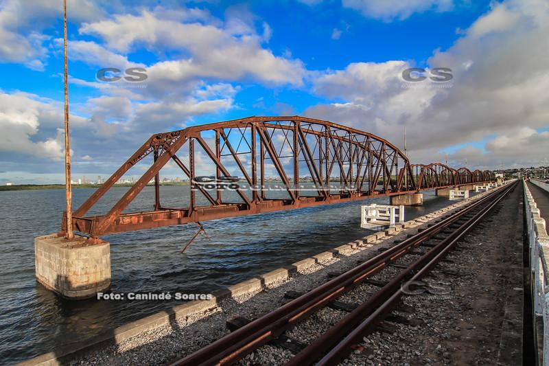 Ponte de Igapó, linha de ferro
